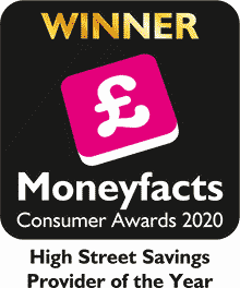 Moneyfacts Consumer Awards 2020 - High Street Savings Provider of the year