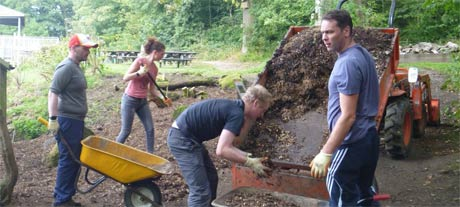 Skipton team volunteering at Nell Bank