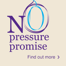 No Pressure Promise: Our promise to you