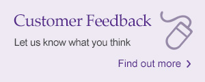 Customer feedback: Let us know what you think