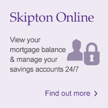 Skipton Online: View your mortgage balance and manage your savings