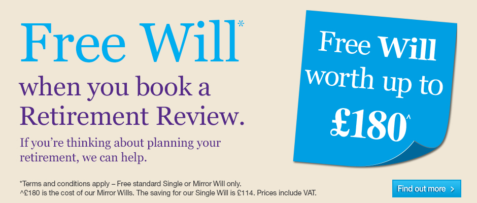 Free Will offer when you book a Retirement Review